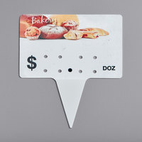 Bakery Molded Number Spear Price Tag (Dz.) - 25/Pack