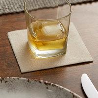 Hoffmaster 046128 10 inch x 10 inch Linen-Like Natural Kraft 1/4 Fold Beverage Napkin - 1000/Case