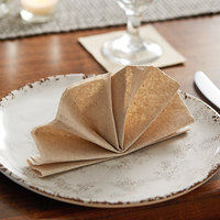 Hoffmaster 125089 14 1/2 inch x 14 1/2 inch Linen-Like Natural Flat-Pack Dinner Napkin   - 1000/Case