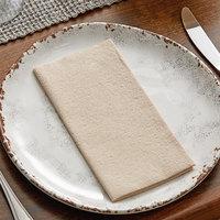 Hoffmaster 066072 15 1/2 inch x 17 inch Linen-Like Natural Kraft 1/8 Fold Dinner Napkin - 300/Case