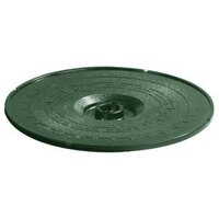 Carlisle 070708 Forest Green Lift-Off Replacement Lid for 071708 12 inch Tortilla Server - 6 / Case