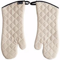San Jamar 817TMSB 17 inch Terry Cloth Oven Mitts with Steam Barrier