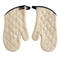 San Jamar 813TMSB 13 inch Terry Cloth Oven Mitts with Steam Barrier