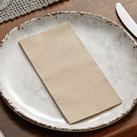 Hoffmaster FP1109 FashnPoint 15 1/2 inch x 15 1/2 inch Natural Dinner Napkin, 1/8 Fold - 100/Pack