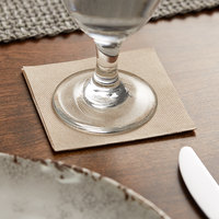 Hoffmaster 200201 FashnPoint 8 inch x 8 inch Natural Beverage Napkin, 1/4 Fold - 100/Pack