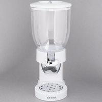 Zevro KCH-06118 White Single Canister Dry Food Dispenser