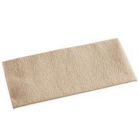 Hoffmaster 066072 15 1/2 inch x 17 inch Linen-Like Natural Kraft 1/8 Fold Dinner Napkin - 75/Pack