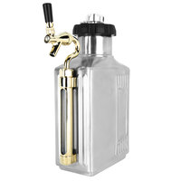 Craft Master Growlers 18944MRTAP Customizable 64 oz. Brushed Finish Growler with CO2 Cap and Tap