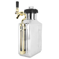 Craft Master Growlers 18944GLTAP Customizabe 64 oz. Mirrored Polish Growler with CO2 Cap and Tap