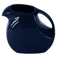 Homer Laughlin 484105 Fiesta Cobalt Blue 2.1 Qt. Large Disc Pitcher - 2/Case