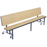 National Public Seating CBG84 7 Foot Mobile Convertible Cafeteria Bench Unit with Plywood Core and Ganging Devices