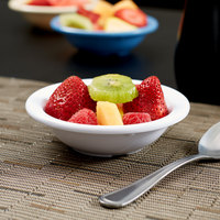 Carlisle KL80502 Kingline 4.75 oz. White Rimmed Fruit Bowl - 48/Case