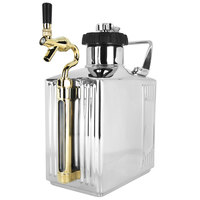 Craft Master Growlers 37888GLRTAP Customizabe 128 oz. Mirrored Polish Growler with CO2 Cap and Tap