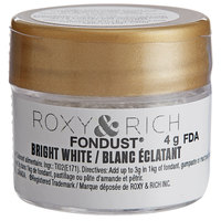 Roxy & Rich 4 Gram Bright White Fondust Hybrid Food Color