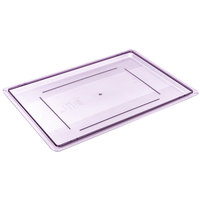 Carlisle 10627C89 StorPlus Purple Allergen-Free Lid for Food Storage Boxes - 26 inch x 18 inch