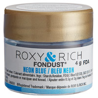 Roxy & Rich 4 Gram Neon Blue Fondust Hybrid Food Color