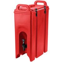 Cambro 500LCD158 Hot Red 4.75 Gallon Camtainer Insulated Beverage Dispenser