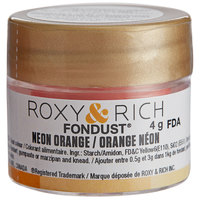 Roxy & Rich 4 Gram Neon Orange Fondust Hybrid Food Color