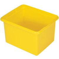 Rubbermaid FG9T8400YEL 30 Qt. Yellow Organizing Bin