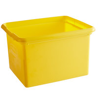 Rubbermaid FG9T8400YEL 30 Qt. Yellow Organizing Bin