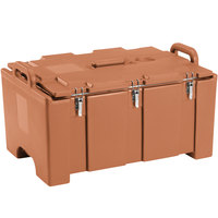 Cambro 100MPC157 Camcarrier® 100 Series Coffee Beige Top Loading 8 inch Deep Insulated Food Pan Carrier
