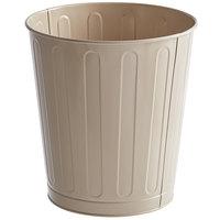 Rubbermaid FGWB26AL 26 Qt. / 6.5 Gallon Beige Round Steel Fire-Resistant Wastebasket / Trash Can