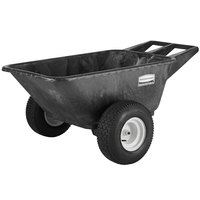 Rubbermaid FG564210BLA Big Wheel Heavy Duty Cart - 7.5 Cubic Foot