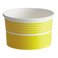 Choice 16 oz. Yellow Paper Frozen Yogurt / Food Cup - 1000/Case
