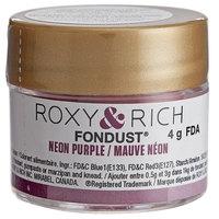 Roxy & Rich 4 Gram Neon Purple Fondust Hybrid Food Color
