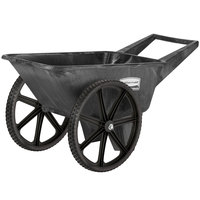 Rubbermaid FG565461BLA Big Wheel Cart - 3.5 Cubic Foot