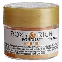 Roxy & Rich 4 Gram Gold Fondust Hybrid Food Color