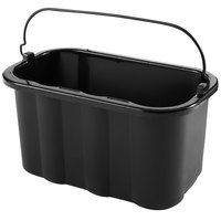 Rubbermaid FG9T8200BLA 10 Qt. Black Heavy Duty Pail