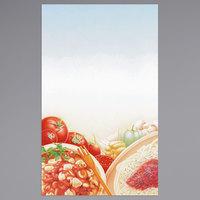 8 1/2 inch x 14 inch Menu Paper - Italian Themed Pasta Design Cover - 100/Pack