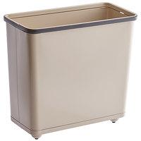 Rubbermaid FGWB30RAL 30 Qt. / 7.5 Gallon Beige Rectangular Steel Fire-Resistant Wastebasket / Trash Can