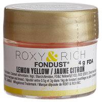 Roxy & Rich 4 Gram Lemon Yellow Fondust Hybrid Food Color