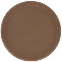 Carlisle 1100GR2076 Brown 11 inch Griptite 2 Non Skid Fiberglass Serving Tray