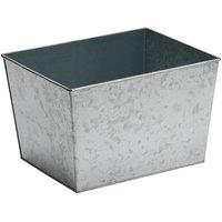American Metalcraft BEVG129 Half Size Silver Galvanized Metal Rectangular Beverage Tub