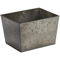 American Metalcraft BEVDG129 Half Size Onyx Galvanized Metal Rectangular Beverage Tub