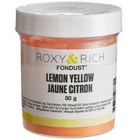 Roxy & Rich 50 Gram Lemon Yellow Fondust Hybrid Food Color