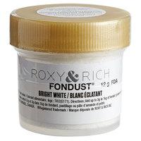 Roxy & Rich 12 Gram Bright White Fondust Hybrid Food Color