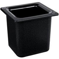 Carlisle CM110503 Coldmaster 1/6 Size Black High Capacity Cold ABS Plastic Food Pan - 6 inch Deep