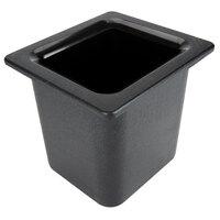 Carlisle CM110503 Coldmaster 1/6 Size Black High Capacity Cold Food Pan - 6 inch Deep