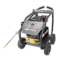 Simpson 65211 Super Pro Pressure Washer with Roll Cage, Simpson Belt-Driven Engine, and 50' Hose - 4400 PSI; 4 GPM