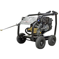 Simpson 65207 Super Pro Pressure Washer with Roll Cage, Kohler Engine, and 50' Hose - 4400 PSI; 4 GPM