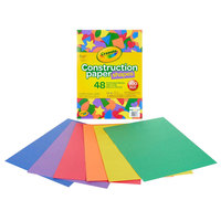 Crayola 990036 9 inch x 12 inch 6-Assorted Color Construction Paper Shapes - 48/Pack