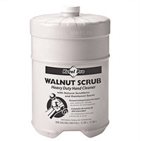 Kutol Pro 4707 Walnut Scrub Rainforest Scented Heavy-Duty Hand Cleaner with Natural Scrubbers Flat Top 1 Gallon Container - 4/Case