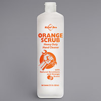 Kutol Pro 4984 Orange Scrub Orange Scented Heavy-Duty Hand Cleaner with Natural Scrubbers 22 oz. Squeeze Bottle - 12/Case