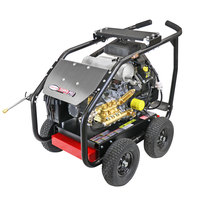 Simpson 65215 Super Pro Pressure Washer with Roll Cage, Kohler Engine, and 50' Hose - 7000 PSI; 4 GPM