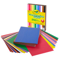 Crayola 993200 9 inch x 12 inch 12-Assorted Color Construction Paper   - 240/Pack