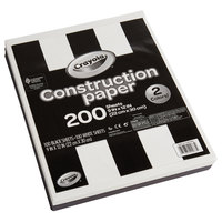 Crayola 990073 9 inch x 12 inch Black & White Construction Paper - 200/Pack